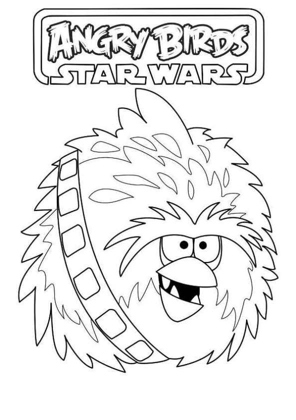 angry bird star wars chewbacca dibujos para colorear - Dibujalandia
