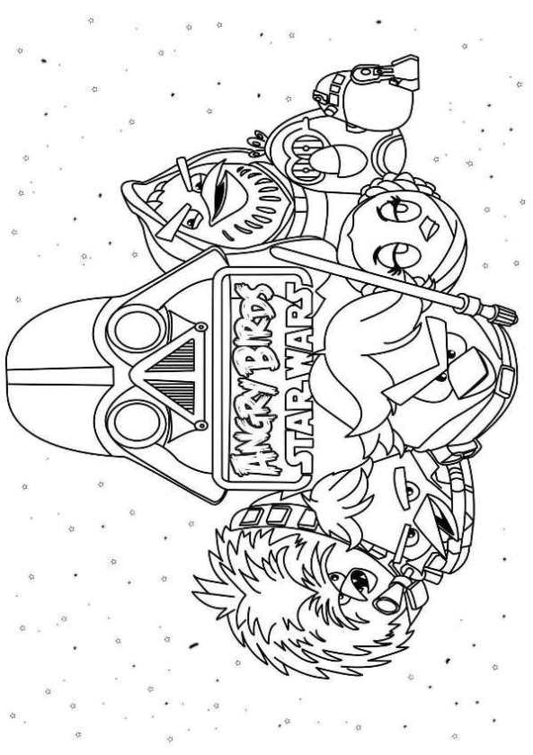 angry bird star wars dibujos para colorear - Dibujalandia