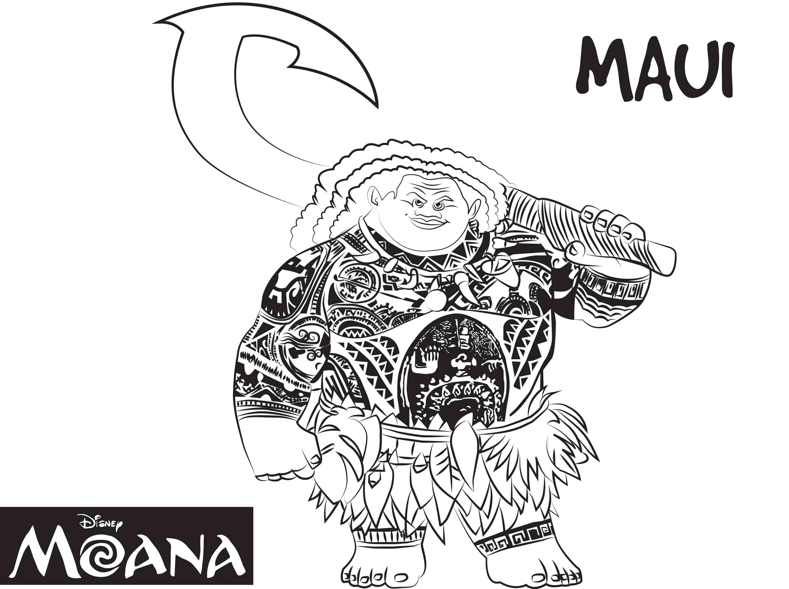 Maui Dibujos Colorear Moana Princesa Disney Dibujalandia
