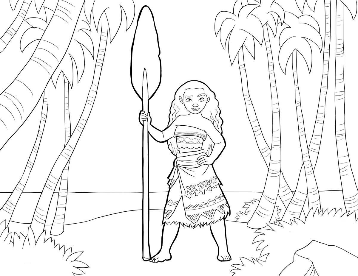 Dibujos Para Colorear Disney Para La Y Dibujos Para: Moana Princesa De Disney Dibujos Colorear
