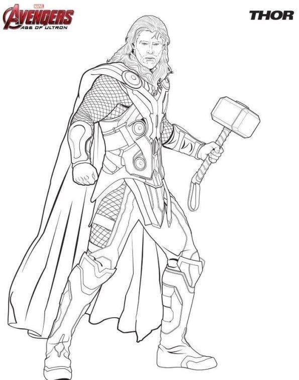 Thor Los Vengadores Dibujalandia