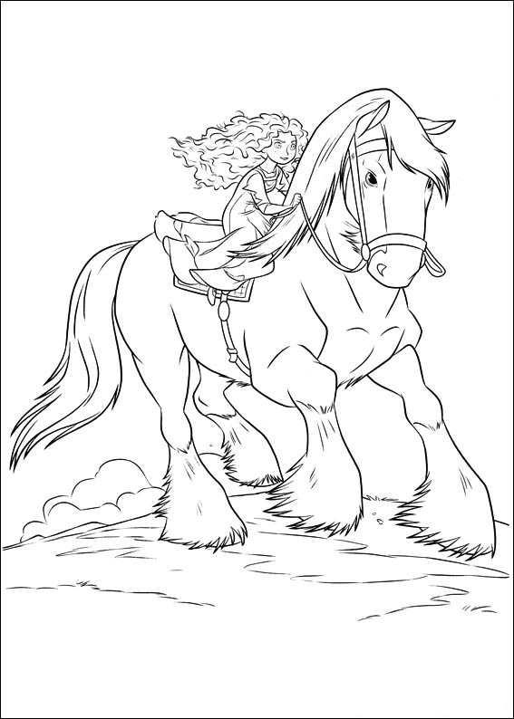 brave merida princesa dibujos para colorear  dibujalandia