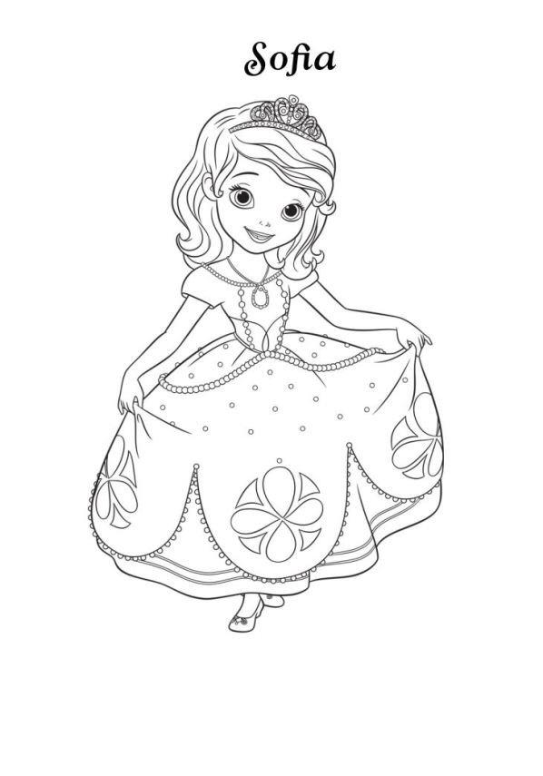 princesa sofia dibujo colorear dibujalandia