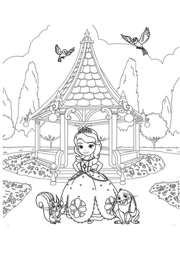 Princesa Sofia Y Amigos Dibujos Colorear Dibujalandia