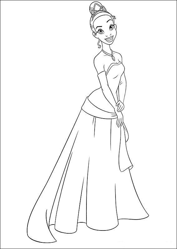 Tiana Princesa De Disney Dibujos Para Colorear De Tiana Y El Sapo