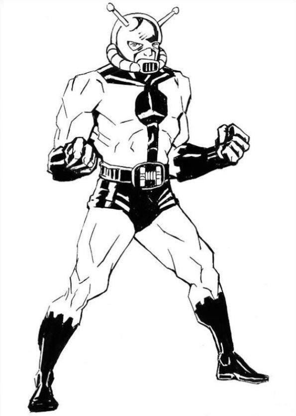 Ant Man Dibujos Para Colorear Superheroes Dibujalandia