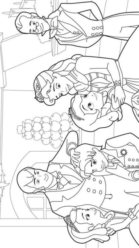 dibujos para colorear de la princesa sofia y su familia - Dibujalandia