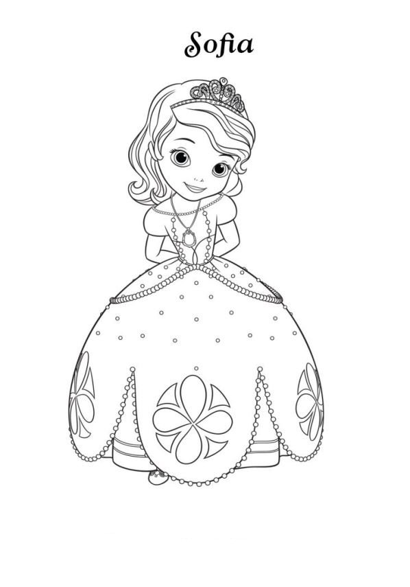 dibujos para colorear de la princesa sofia - Dibujalandia