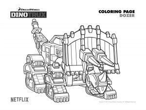 kleurplaat dino trucks dinotrux 3 ausmalbild