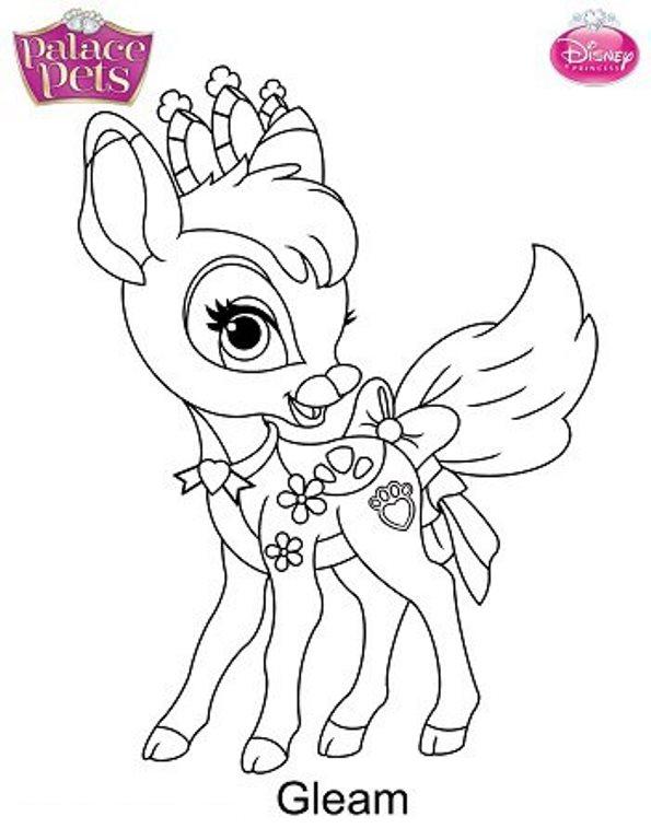 gleam mascota disney dibujo colorear - Dibujalandia