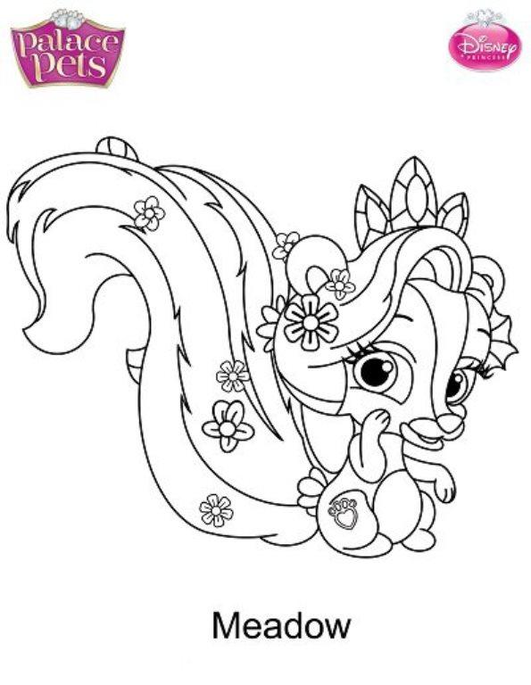 Animales De Princesas Para Colorear | www.imagenesmy.com
