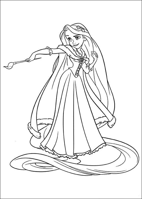 rapunzel enredados dibujos colorear - Dibujalandia