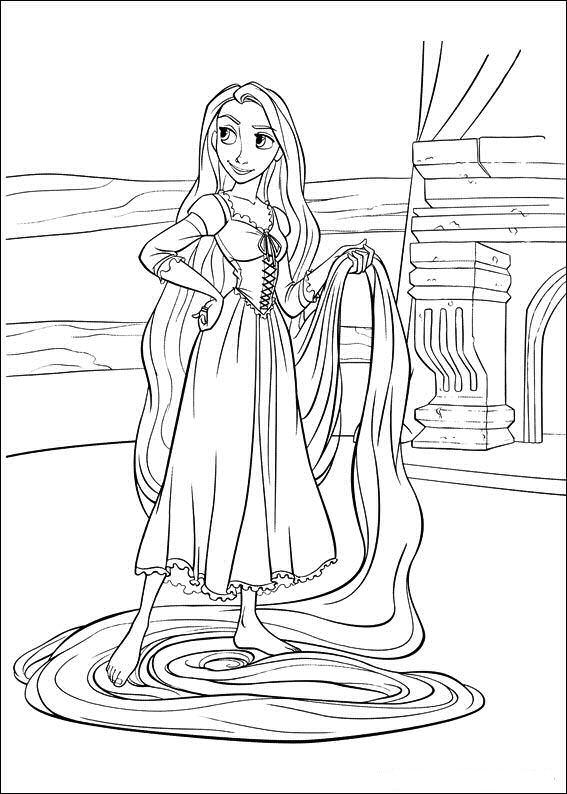 Rapunzel Princesa Dibujos Colorear Dibujalandia