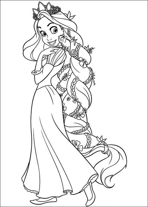 rapunzel y camaleon dibujos colorear - Dibujalandia