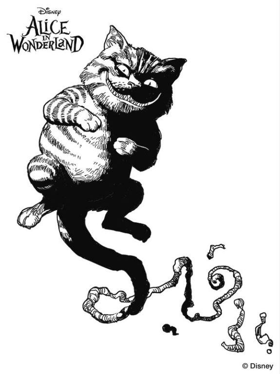 Gato De Alicia Para Pintar picture gallery