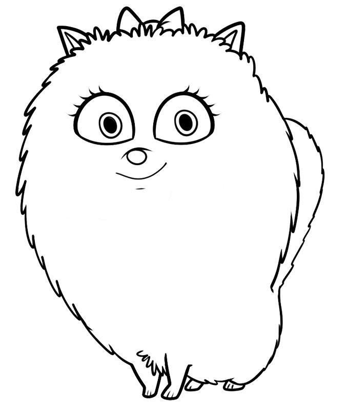 Gidget La Vida Secreta De Tus Mascotas Dibujos Para Colorear