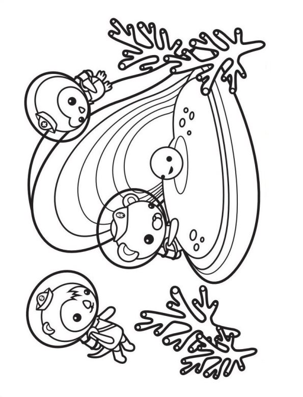 Grupo Octonautas dibujos para colorear - Dibujalandia