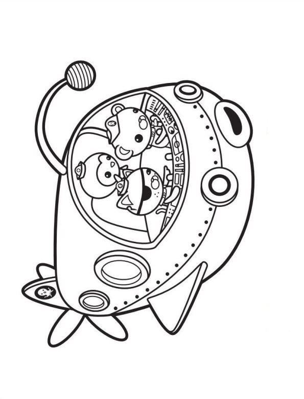 Nave submarino Octonautas dibujos para colorear - Dibujalandia