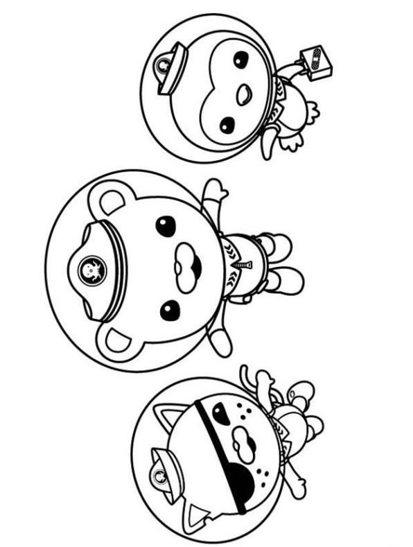 Polar, Kwazzi, y Pepe Octonautas dibujos colorear - Dibujalandia