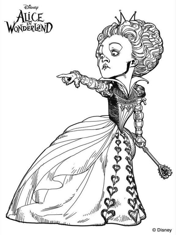 Reina de corazones pelicula alicia tim burton dibujos - Dibujalandia
