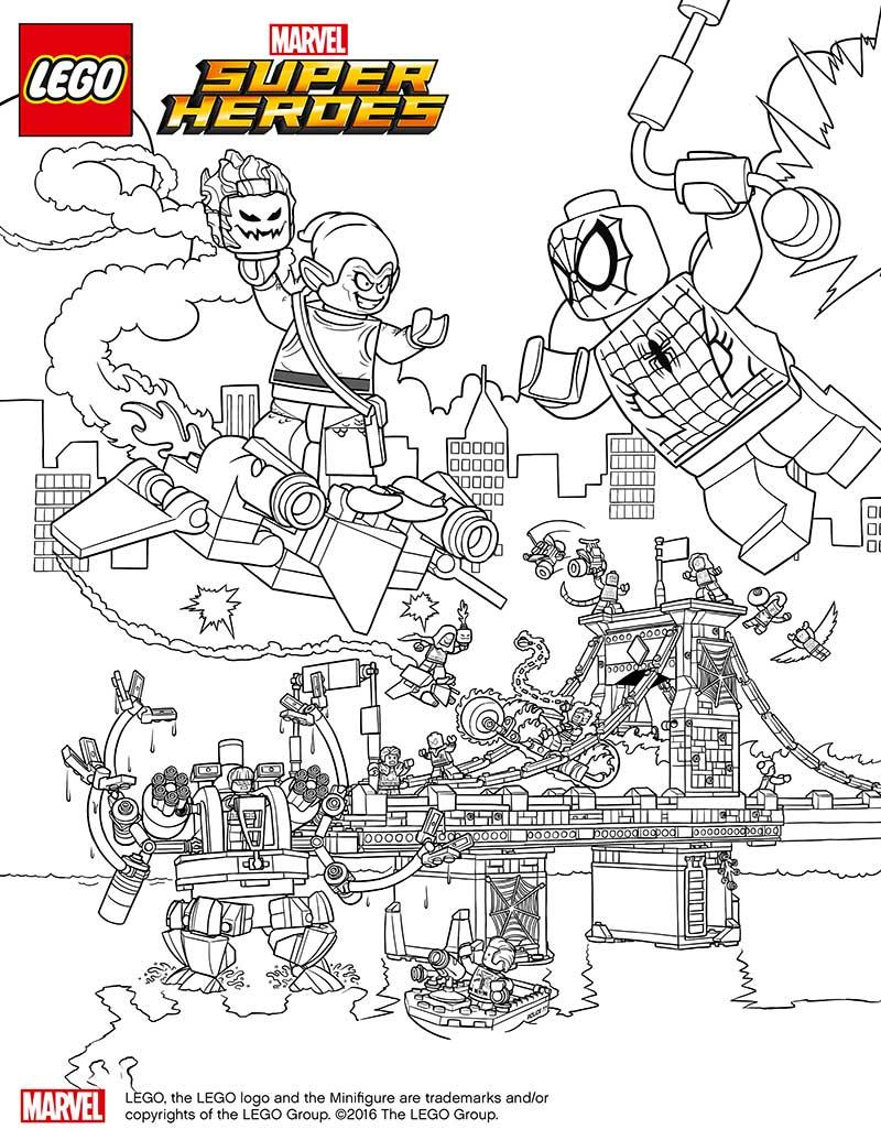 lego marvel spiderman dibujos colorear   Dibujalandia