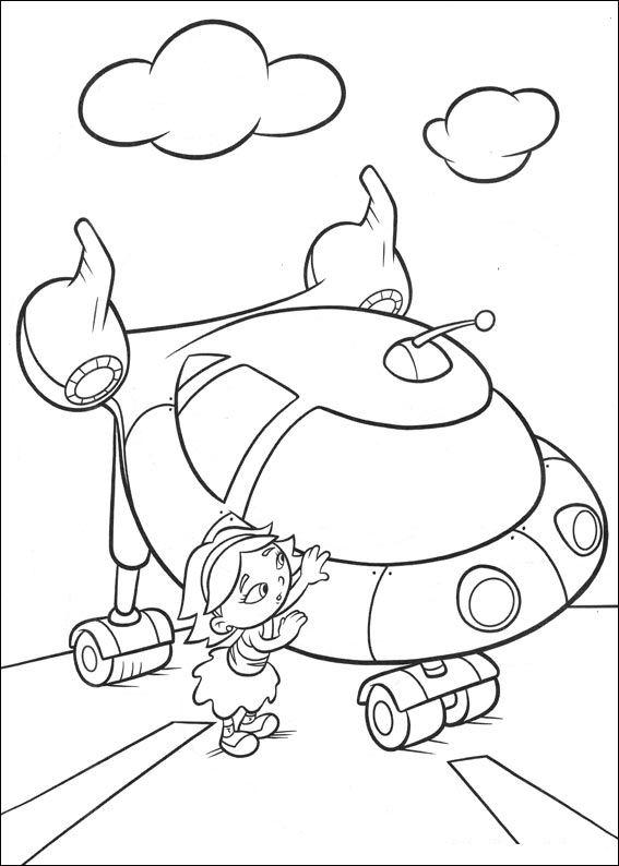 nave y june little einsteins dibujos para colorear - Dibujalandia