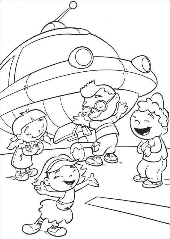 nave y little einsteins dibujos colorear - Dibujalandia