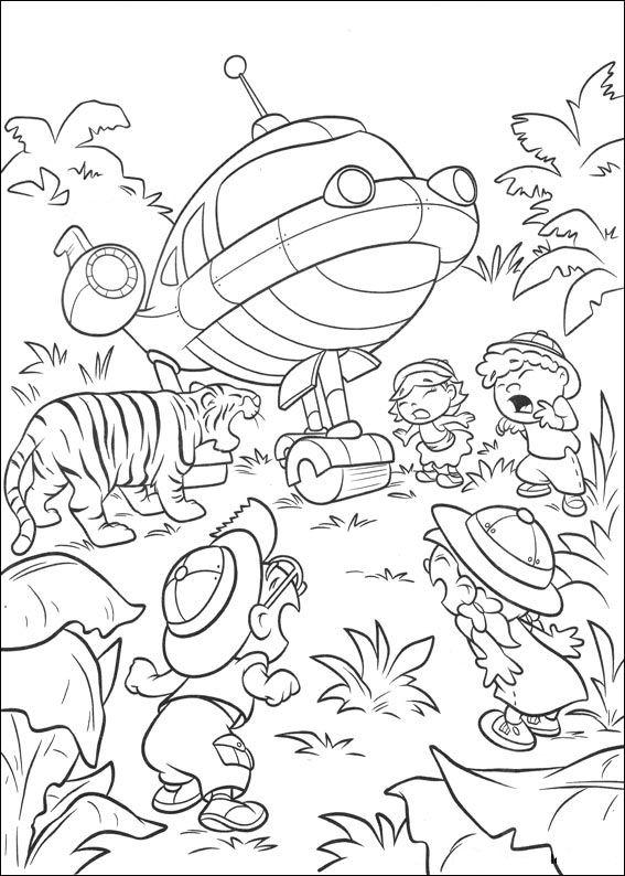 safari little einsteins dibujos para colorear - Dibujalandia
