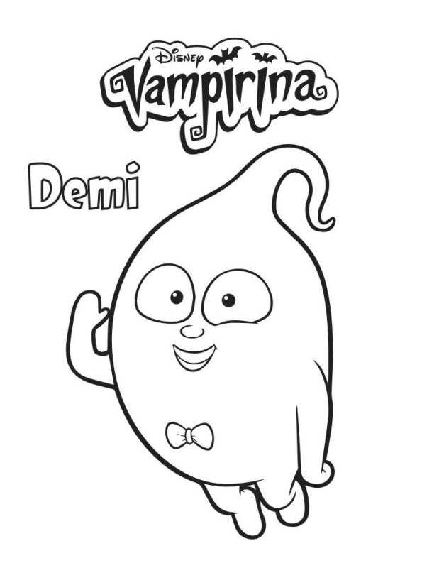 Demi Vampirina Dibujos Colorear Dibujalandia