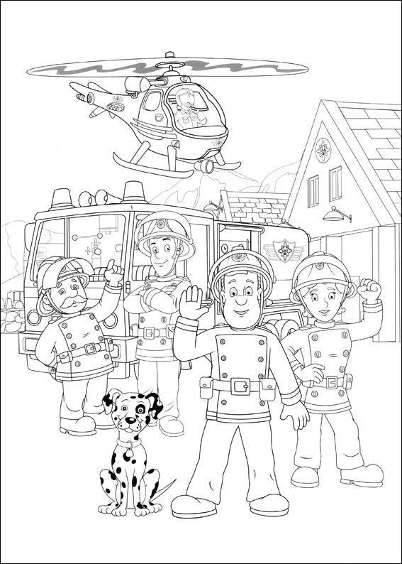 sam el bombero y su equipo dibujos colorear - Dibujalandia