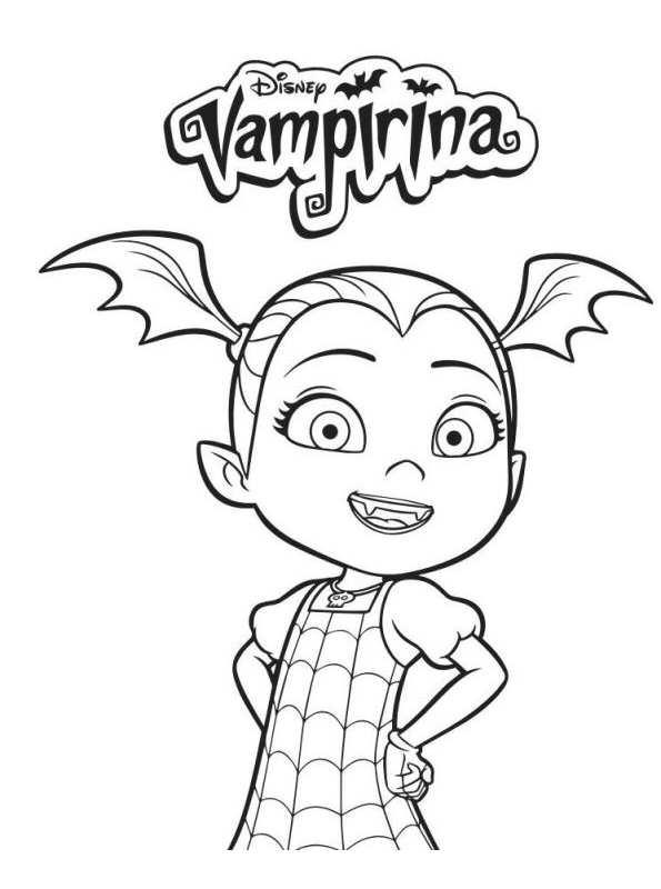 Vampirina Dibujos Para Colorear Dibujalandia