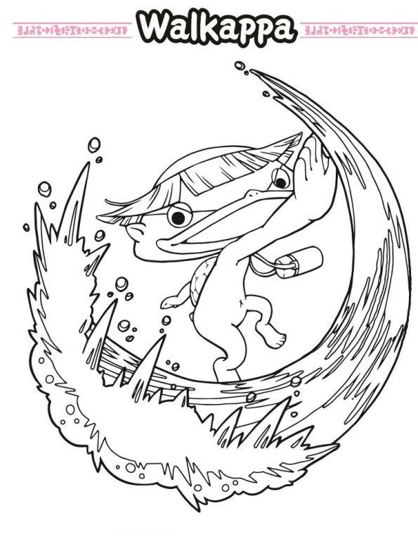 wallkappa yo-kai watch dibujos para colorear - Dibujalandia