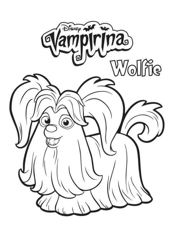 Wolfie Vampirina Dibujos Para Colorear Dibujalandia