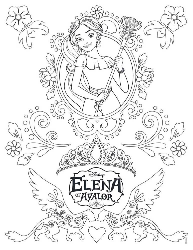 Elena De Avalor Dibujos Colorear Dibujalandia
