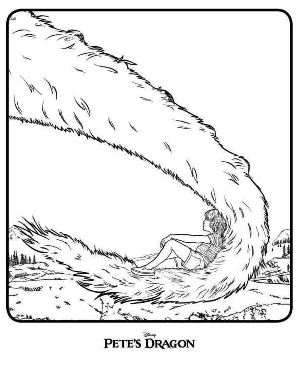 eliot y el dragon dibujos colorear e imprimir - Dibujalandia