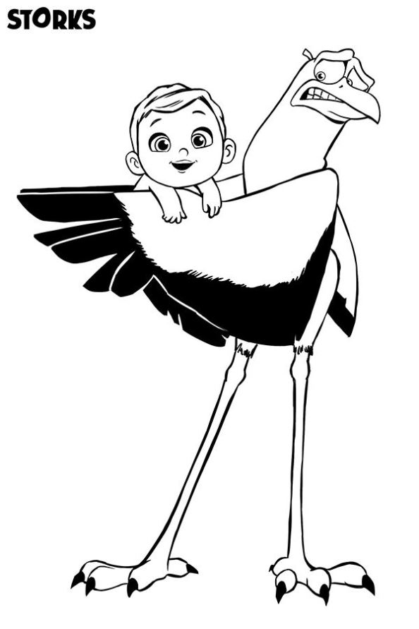 stork-baby-dibujos-para-colorear-pelicula-ciguena - Dibujalandia