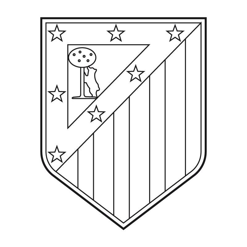 atletico-de-madrid-escudo-de-futbol-para-colorear - Dibujalandia