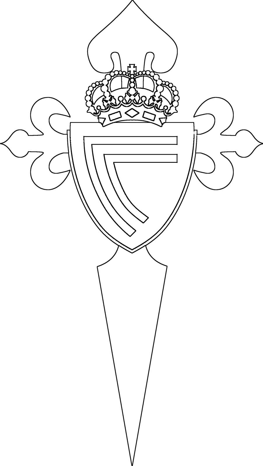 celta-de-vigo-escudo-de-futbol-para-colorear - Dibujalandia