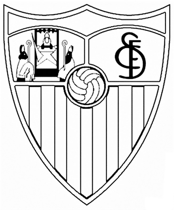 sevilla escudo de futbol para colorear   Dibujalandia