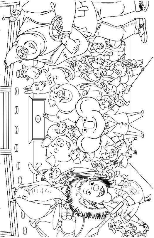 Sing Canta la pelicula dibujos colorear - Dibujalandia