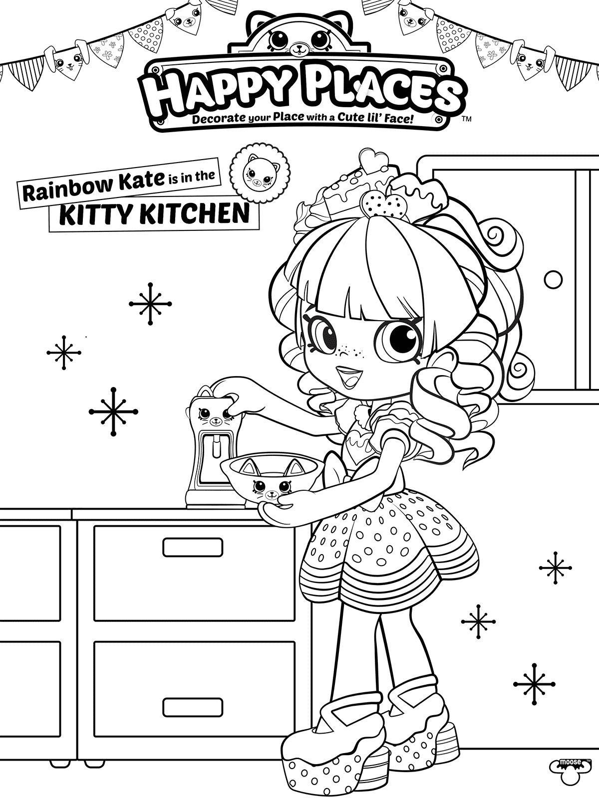 Rainbow Kate Shopkins Dibujos Colorear E Imprimir Dibujalandia