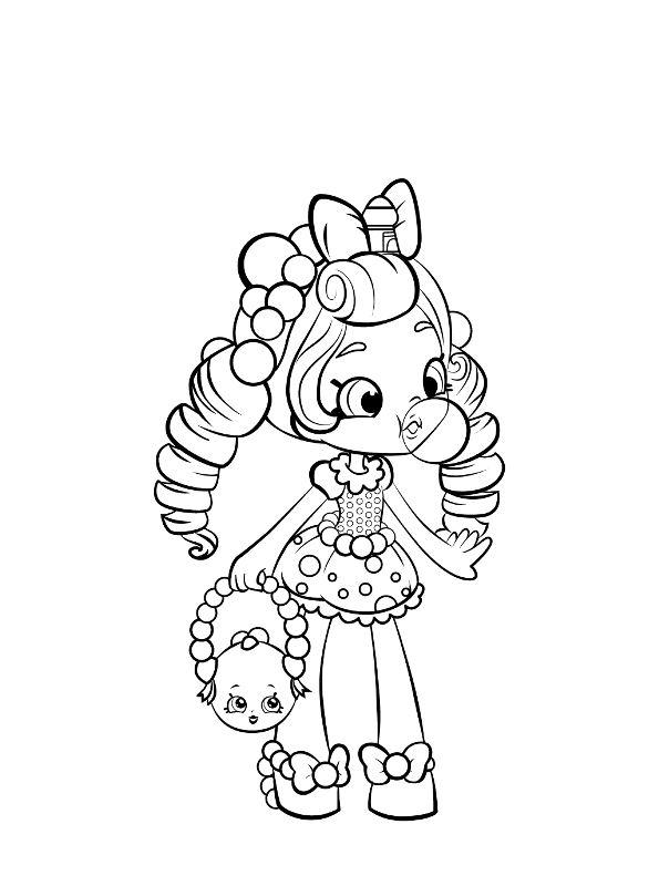 Shopkins Dibujos Para Colorear Shoppies Doll Dibujalandia