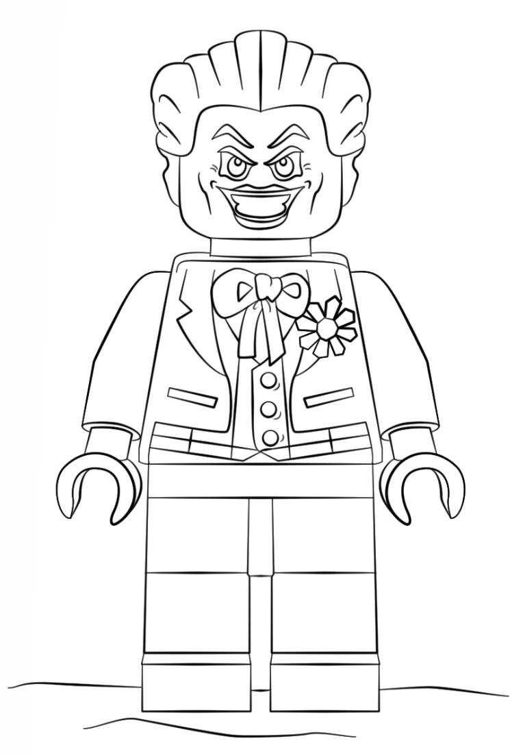 Joker Batman Lego Pelicula Dibujos Colorear Dibujalandia