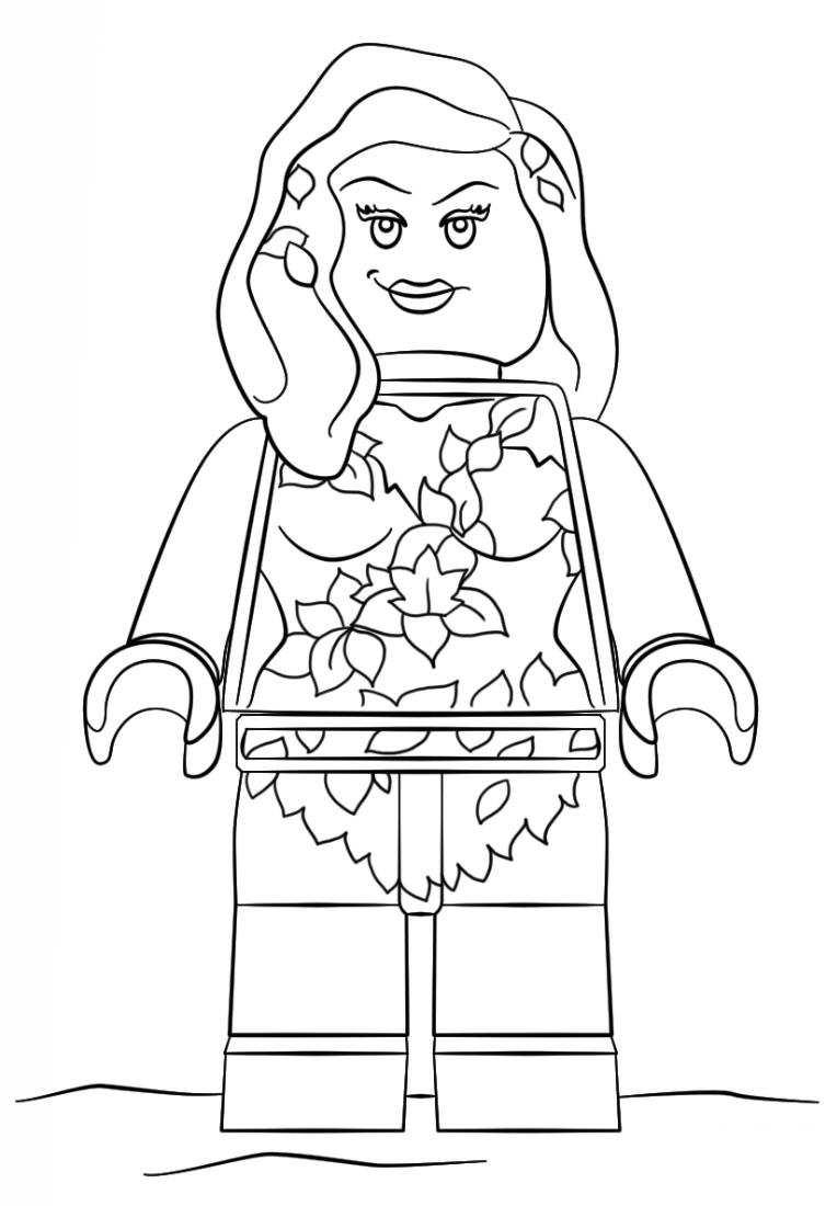 poison ivy batman lego pelicula dibujos colorear - Dibujalandia