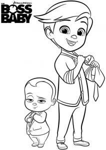 El bebe jefazo dibujos para colorear