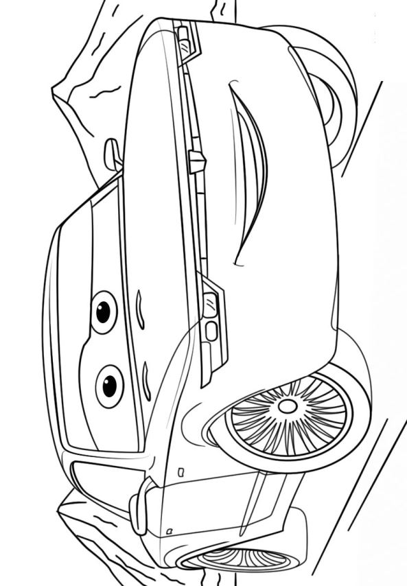 Cars Lightning Mcqueen Kleurplaat Cars 3 Dibujos Para Colorear Bob Sterling Dibujalandia