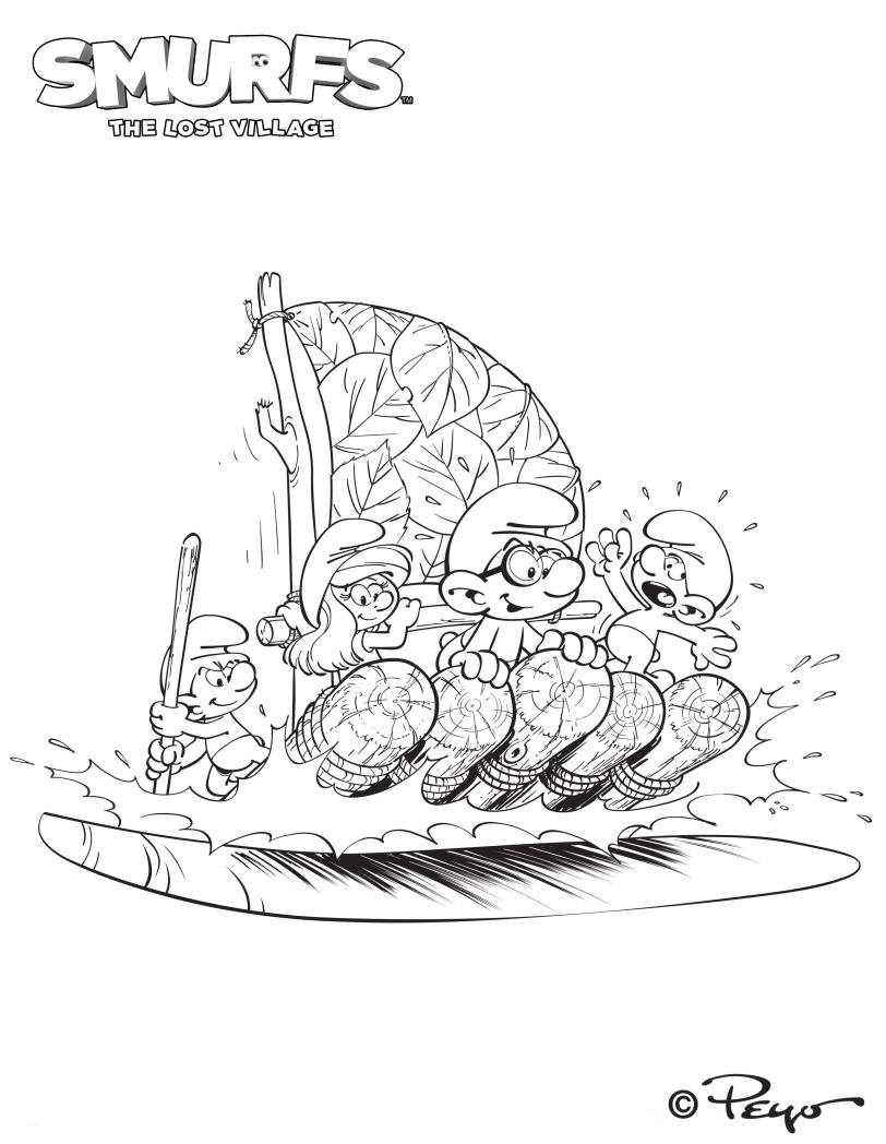 Colorear Dibujos Los Pitufos La Aldea Escondida Pelicula