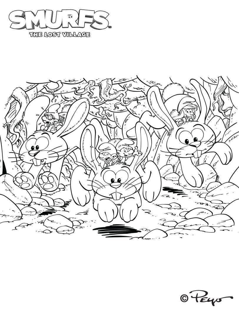 La Aldea Escondida Dibujos Colorear Pitufos Dibujalandia