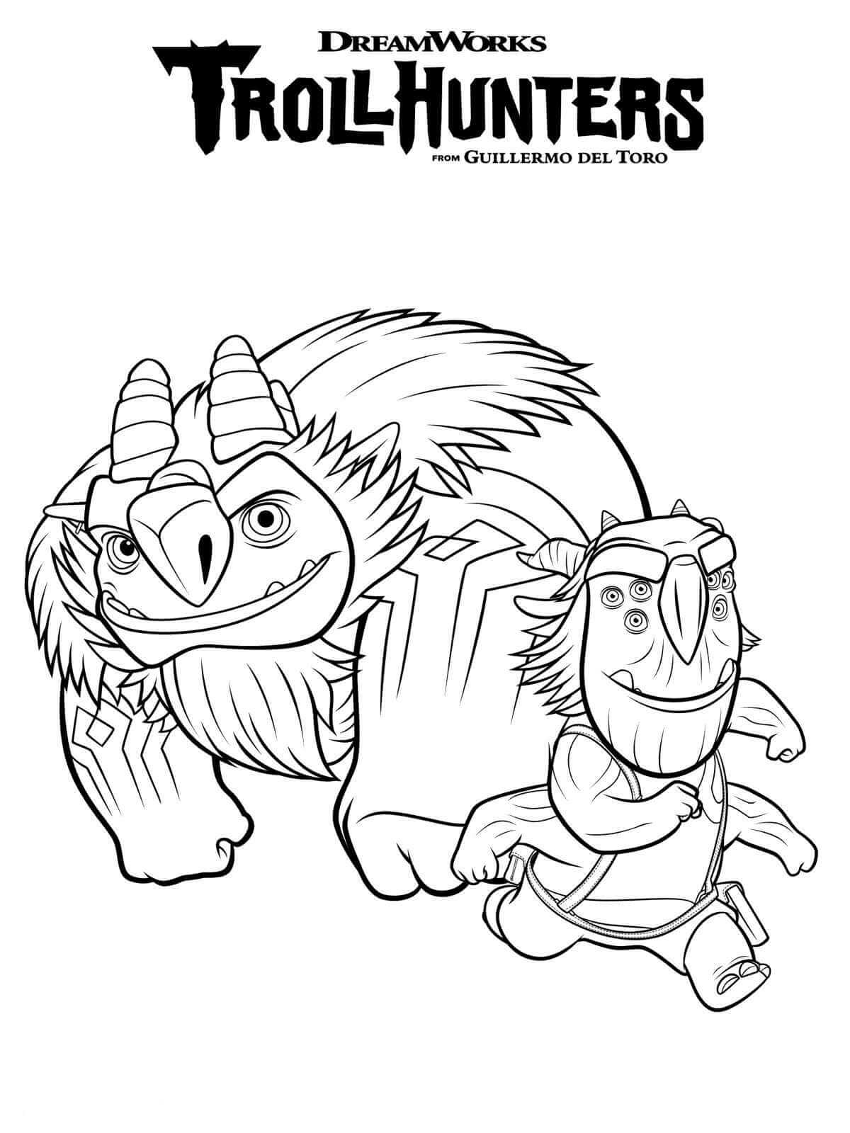 Dibujos Para Colorear Y Imprimir Trolls - Impresion gratuita