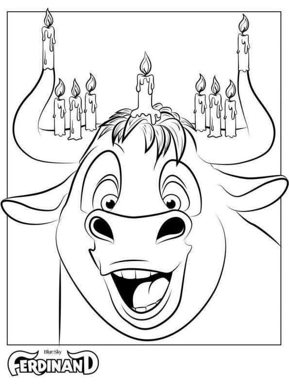 Colorea a ferdinando el toro - Dibujalandia